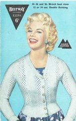 Bestway 3094 ladies cardigan vintage knitting pattern