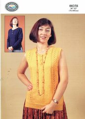 Readicut 258 ladies summer top knitting pattern