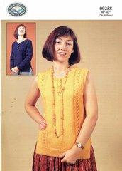 Readicut 258 ladies summer top knitting pattern