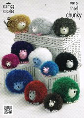 King Cole 9015 hedgehog tinsel toy knitting pattern