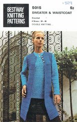 Bestway 5015 ladies waistcoat and jumper vintage crochet pattern