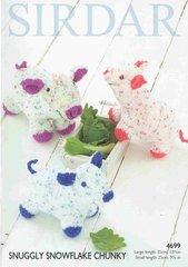 Sirdar 4699 toy cow pig sheep knitting pattern