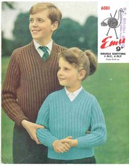 Emu 6081 childrens jumper vintage knitting pattern