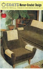Coats 946 chair backs vintage crochet pattern