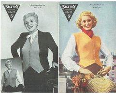 Bestway 2422 ladies waistcoat vintage knitting pattern