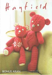 Hayfield 7802 teddy bear toy knitting pattern