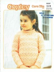 Copley 9297 girls jumper vintage knitting pattern