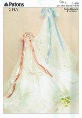 Patons 4511 baby shawl knitting pattern