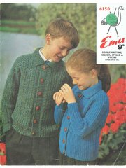 Emu 6150 childrens cardigan vintage knitting pattern