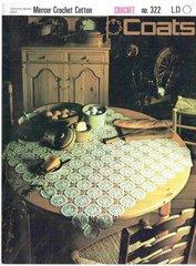 Coats 322 tablecloth vintage crochet pattern