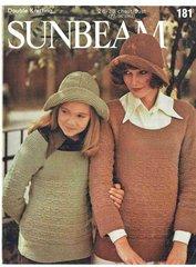 Sunbeam 181 ladies tunic jumper vintage knitting pattern