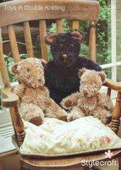 Stylecraft 9239 teddy bear family toy knitting pattern