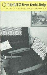 Coats 1011 chair backs vintage crochet pattern
