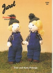 Jarol 998 Tom and Katy Pottage Postman Pat series toy knitting pattern