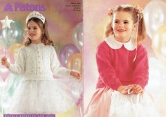 Patons 2350 girls childrens cardigan jumper knitting pattern