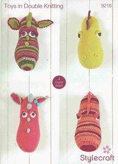 Stylecraft 9216 toy crochet pattern