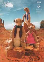 King Cole 9005 meercat family toy knitting pattern
