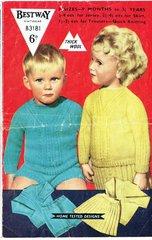 Bestway 3181 baby jumper short and skirt set vintage knitting pattern