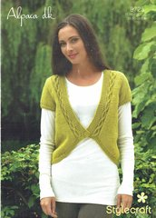 Stylecraft 8725 ladies short sleeve cardigan knitting pattern