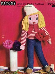 Patons 5042 dolls vintage knitting pattern