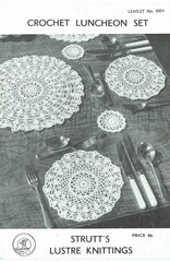 Strutts 8004 table mats vintage crochet pattern