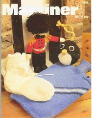 Marriner 1988 bedsocks water bottle cover toy soldier vintage knitting pattern