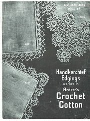Arderns 4609 handkerchief edgings vintage crochet pattern