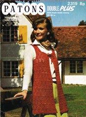 Patons 2319 ladies waistcoat vintage crochet pattern