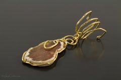 Brown Agate Scarf Pendant