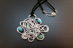 Turquoise Abstract Pendant