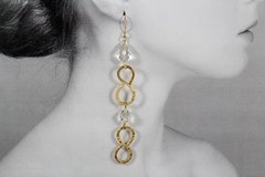 Extra Long Infinity Earrings