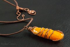 Agate & Copper Pendant