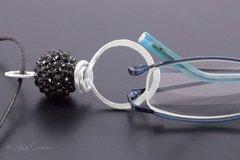 Black Bead Eyeglasses Pendant