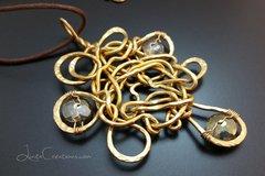 Crystal & Gold Designer Pendant