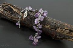 Amethyst Dangle Bracelet