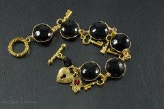 Black Crystal Hamsa Bracelet