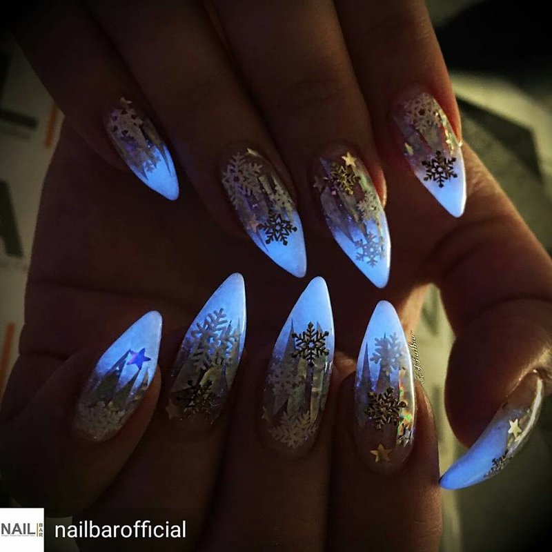 Image result for Glow Nails & Chrome Nails