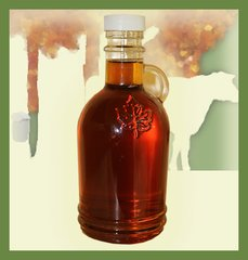 12 OZ Maple Syrup Glass Oval
