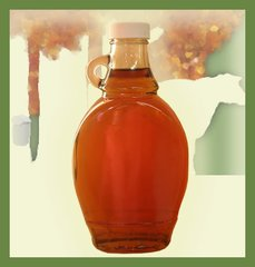 8 OZ Maple Syrup Flat Round