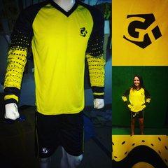 GK Soccer Set: V Neck Full Sleeve Shirt+Short