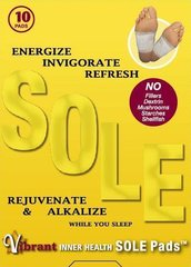 VIBRANT INNER HEALTH SOLE PADS-10 PADS