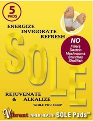 VIBRANT INNER HEALTH SOLE PADS-5 PADS
