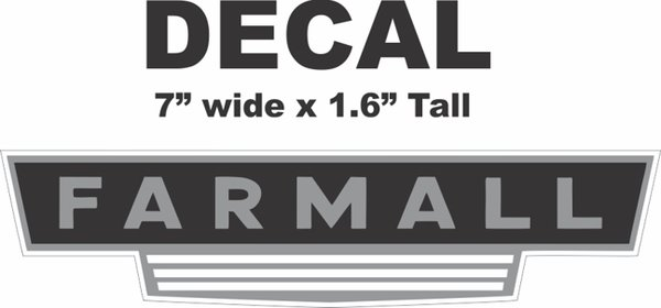 Farmall M Decal : Farmall decal nicer decals nicerdecals corvette road