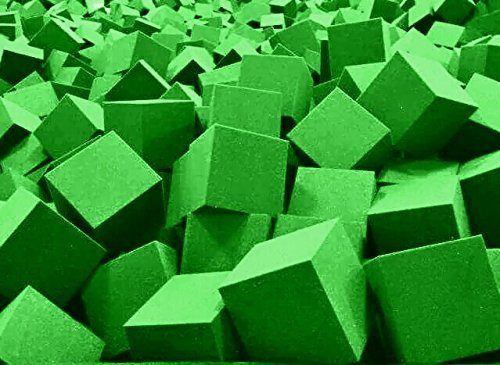 Gymnastic Pit Foam Cubes Blocks 1000 Pcs Lime Green