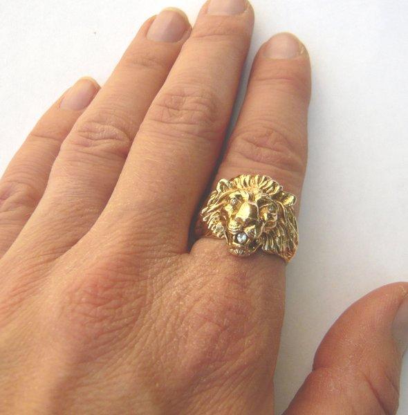 Antique Lion Head Gold Ring Best Lion 2017
