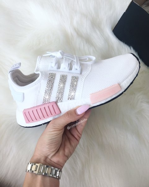 super cute dada9 53df2 ... adidas nmd runner made with swarovski® xirius rose crystals white icy  pink .