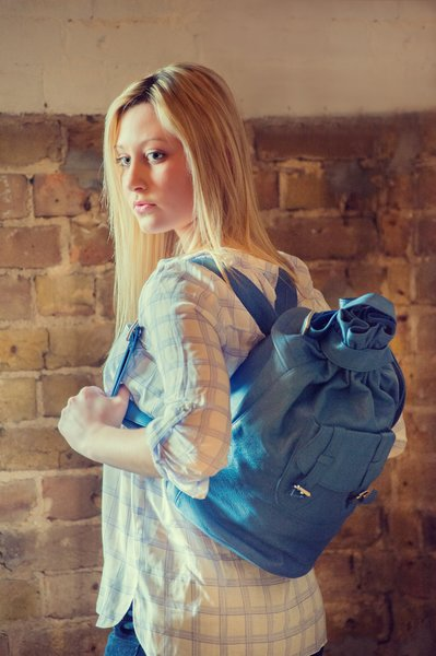 Piper Ray Cobalt Leather Backpack