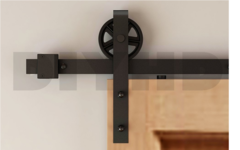 Spindle Strap Barn Door Hardware