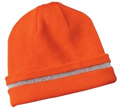 CornerStone® - Enhanced Visibility Beanie with Reflective Stripe.