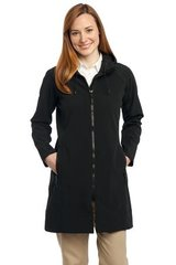 Port Authority® Ladies Long Textured Hooded Soft Shell Jacket TPKC